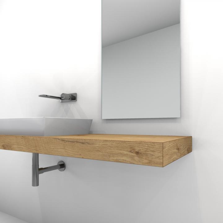 waschtischkonsole 8 cm in eiche holzdekor nach ma badezimmer g ste wc und b der. Black Bedroom Furniture Sets. Home Design Ideas