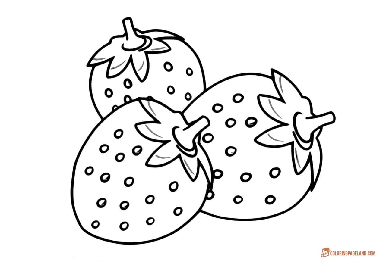 Pin On Strawberry Coloring Pages