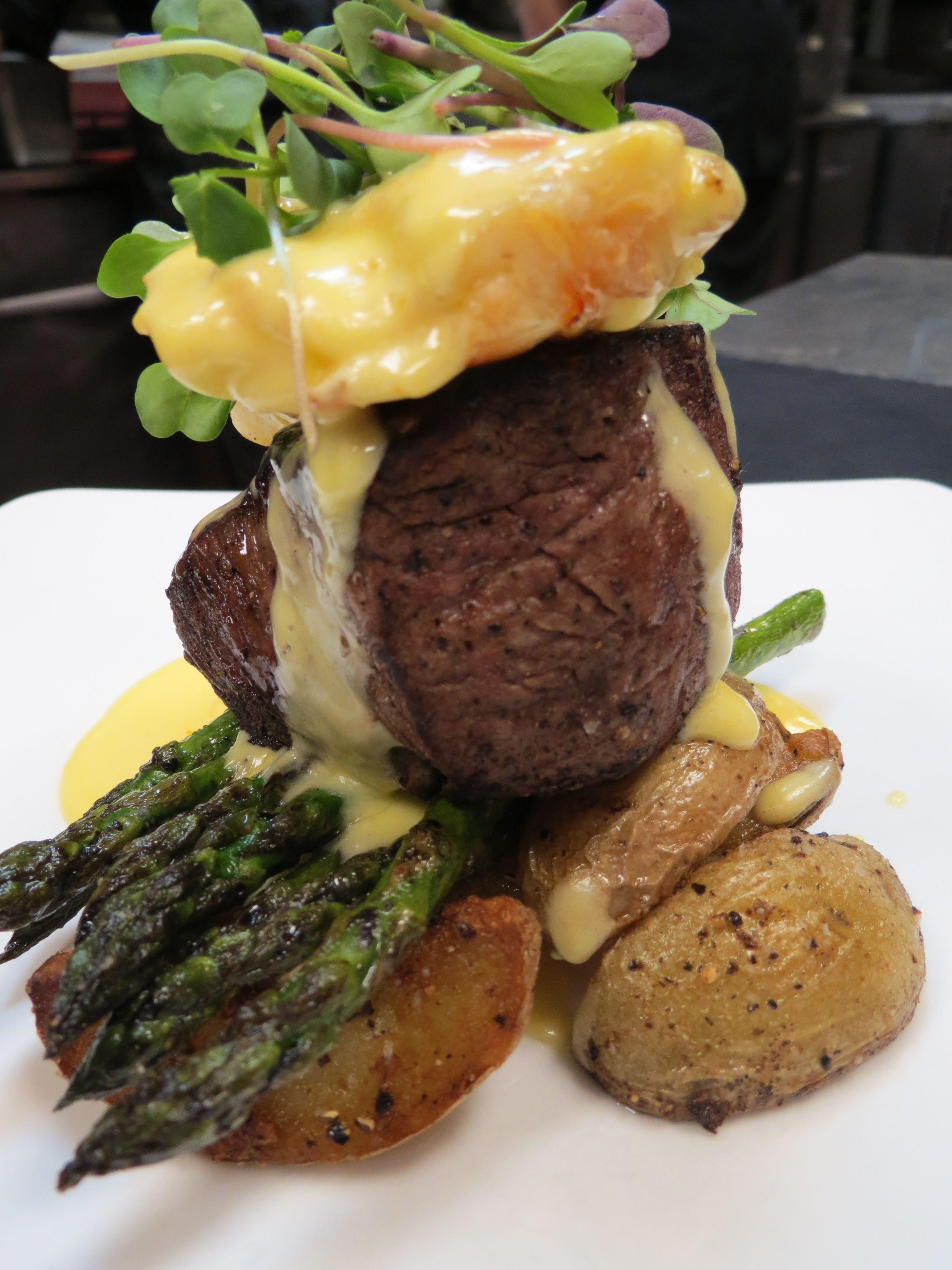 Steak Oscar with Lobster   Steak and lobster dinner ...
