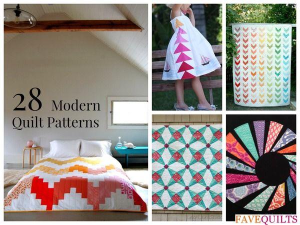 28 Modern Quilt Patterns and Modern Quilt Ideas | Modern, Patterns ... : modern patchwork quilt designs - Adamdwight.com