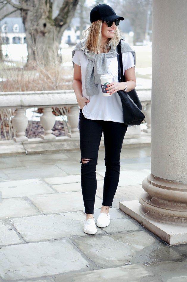 White Slip-On Sneakers   Red White