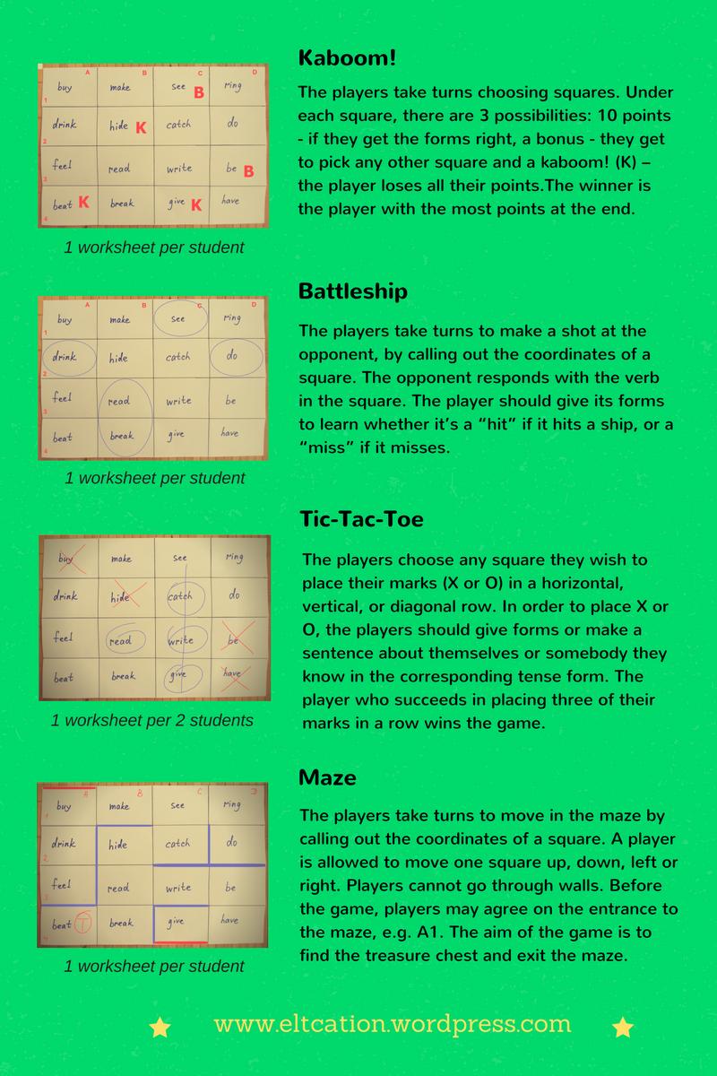 1 Worksheet 10 Games Teaching Vocabulary Teacher Design Worksheets [ 1200 x 800 Pixel ]