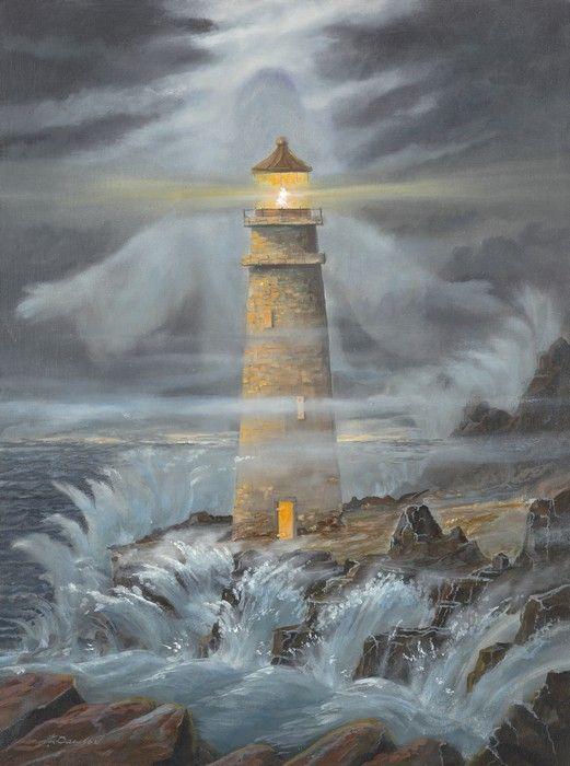 The Light In The Storm Quot By Jack E Dawson Lighthouse