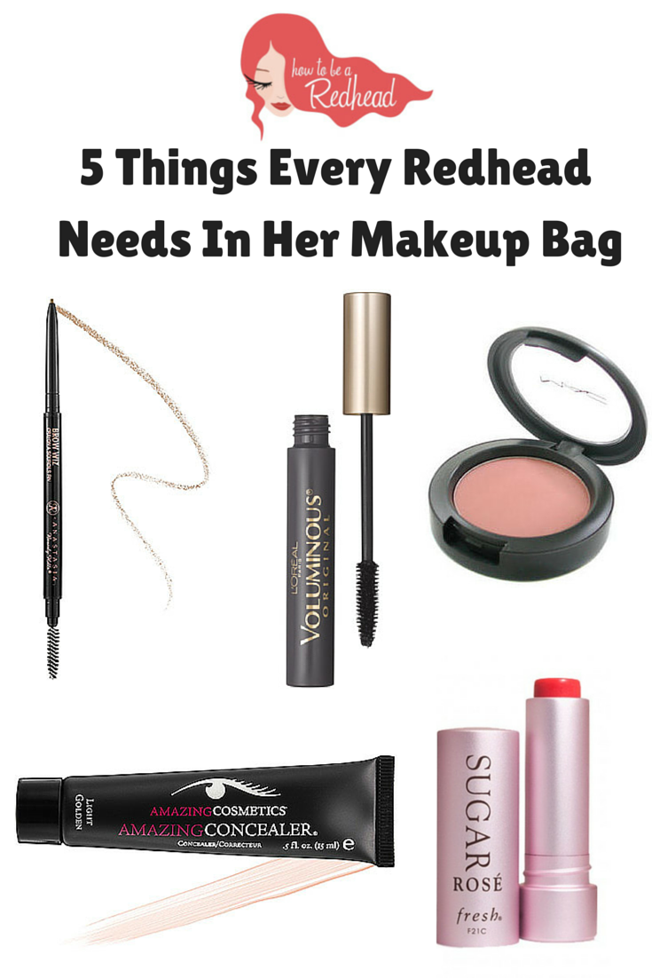 5 Makeup Products Every Redhead Needs in Her Makeup Bag