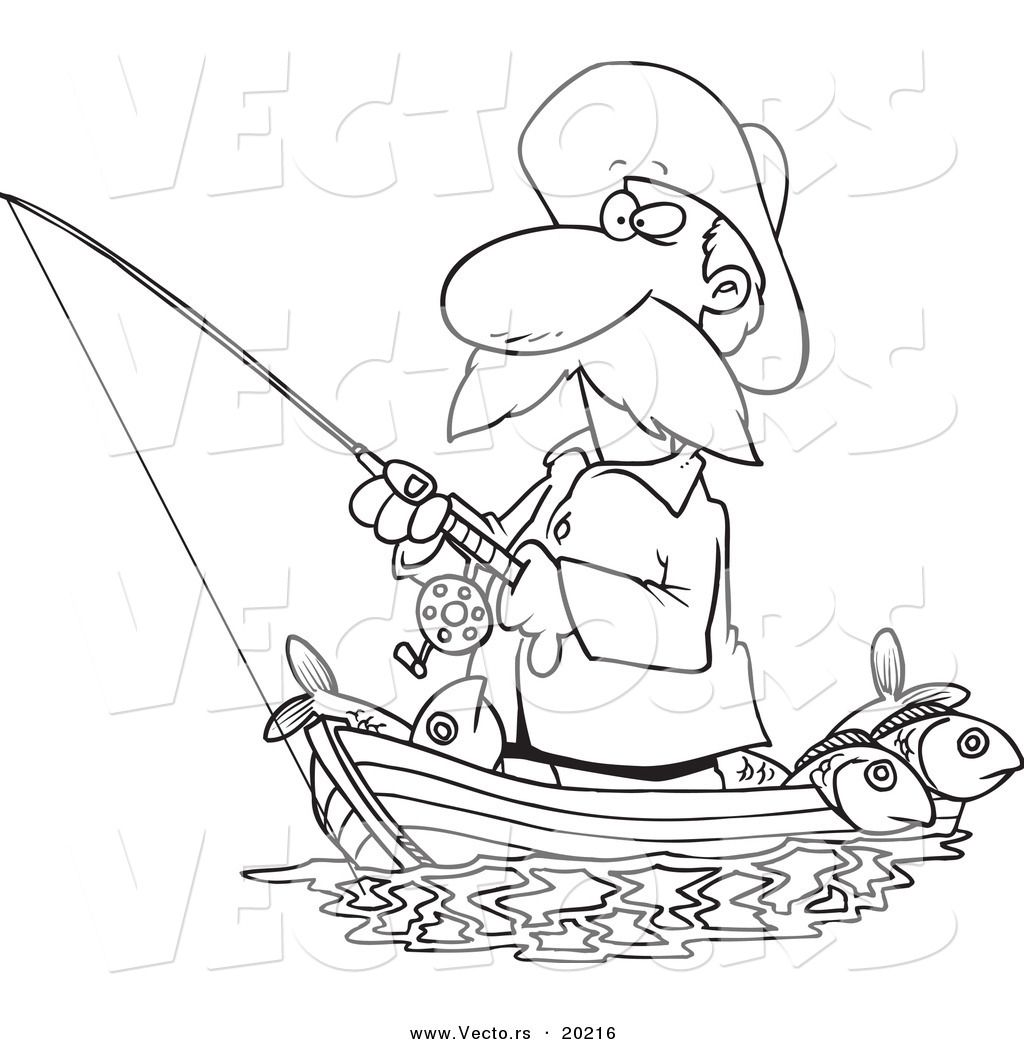 Fishing Boat Coloring Pages Top With Fishing Boat Coloring Pages