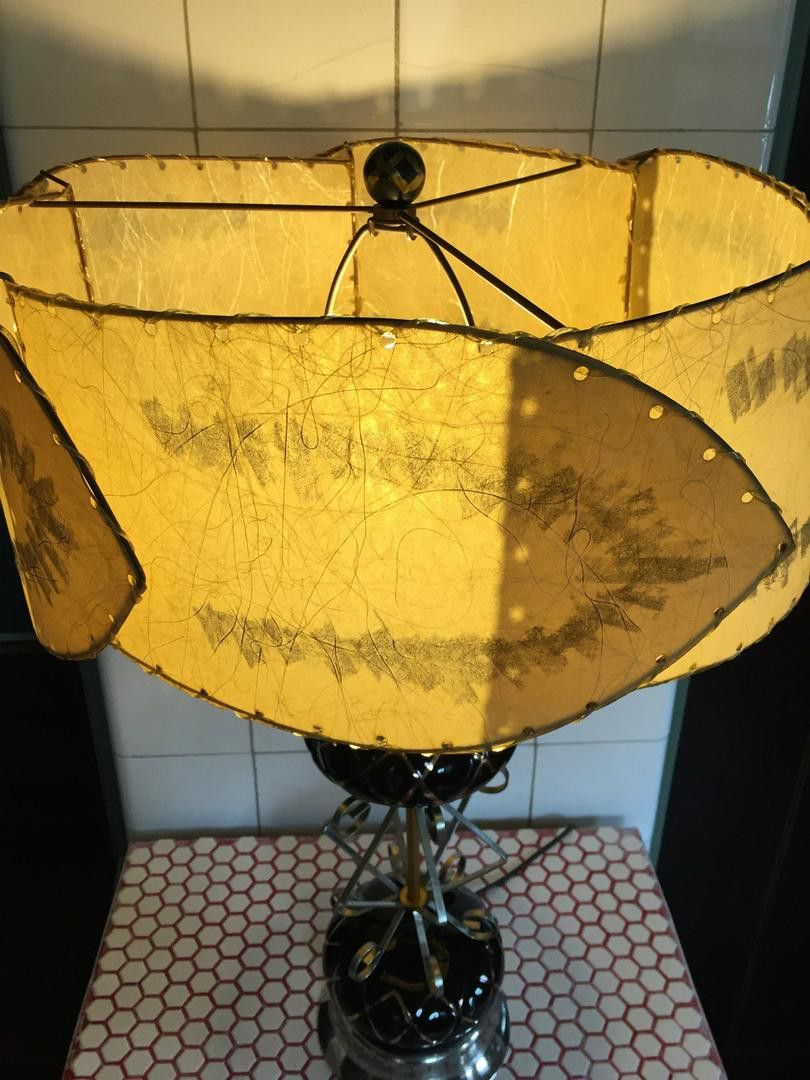This Is A Classic 1950s Lamp With An Over The Top Exuberance Black And Gold Ceramic Bulbs Joined Together With Silver And Gol Ceramic Lamp Vintage Lamps Lamp