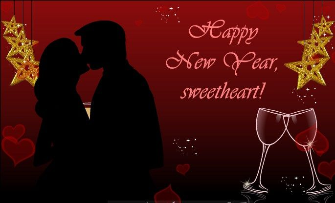 New Year 2017 Kiss Couple Greetin  Happy new year quotes, New