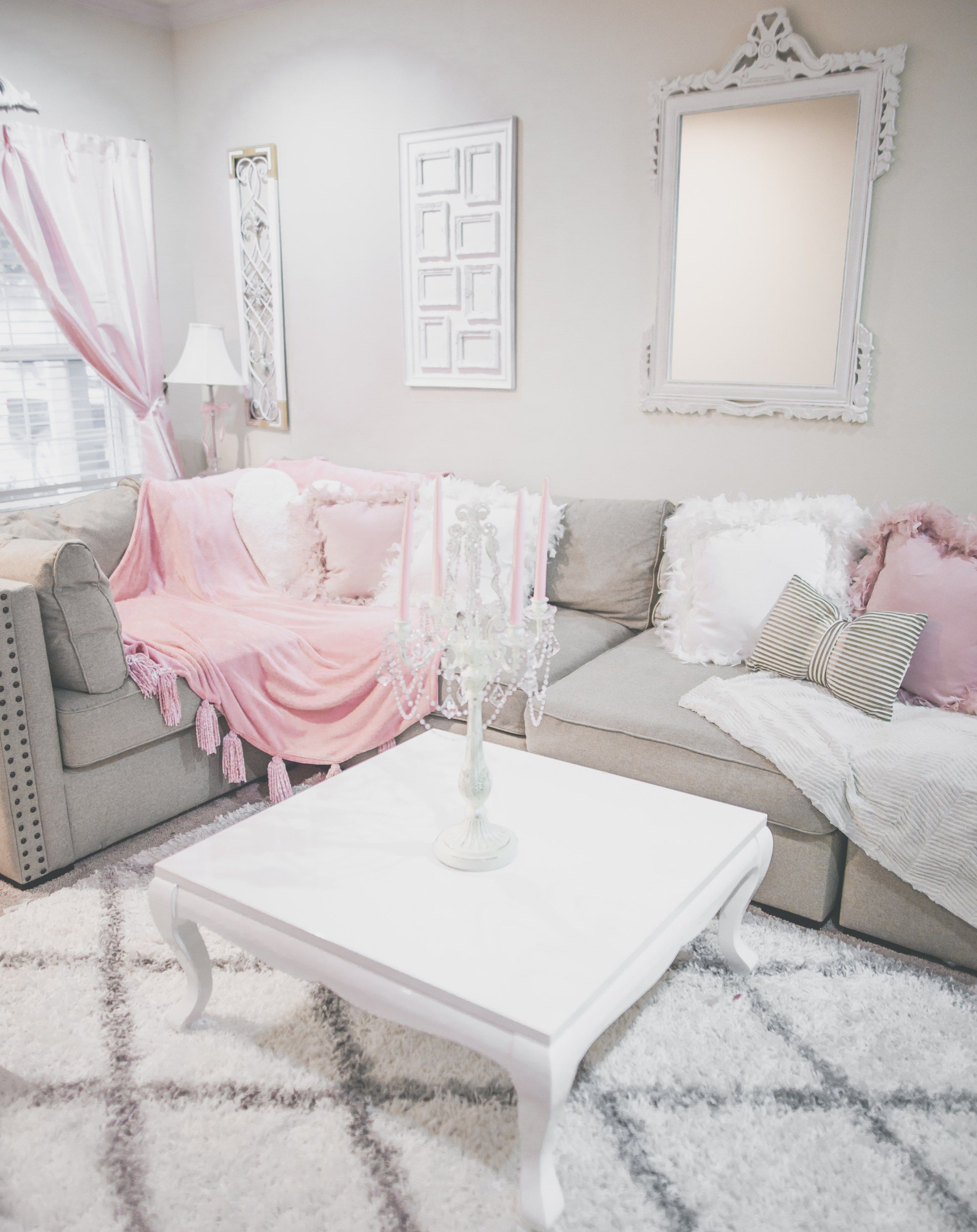 Pretty Feminine Additions To My Girly Decor Girly Living Room Pink Living Room Luxury Living Room