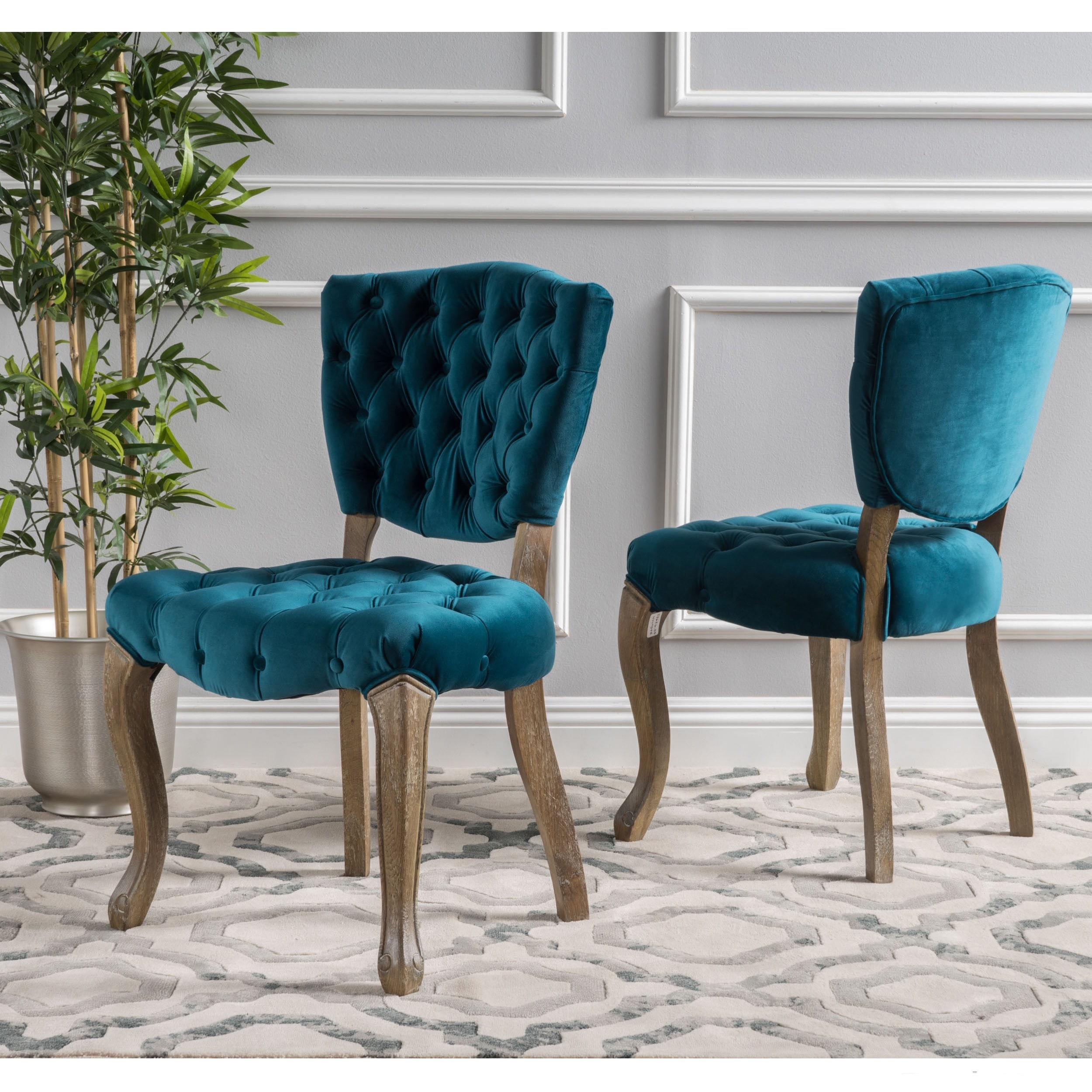 Maison Rouge Anwar Tufted Dining Chairs Set Of 2 Bates Tufted