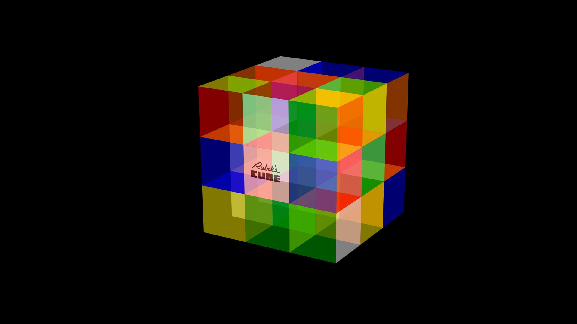 D Black Abstract Wallpapers Group Rubik In 2019