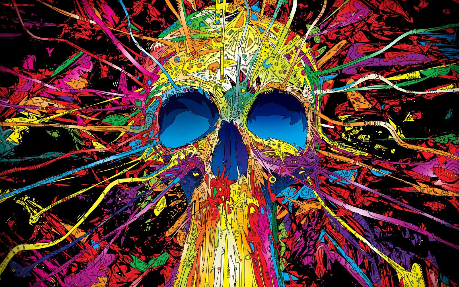 3d Abstract Desktop Wallpaper 3d And Abstract Desktop Wallpapers Hd Backgrounds Skull Wallpaper Skull Art Psychedelic Art