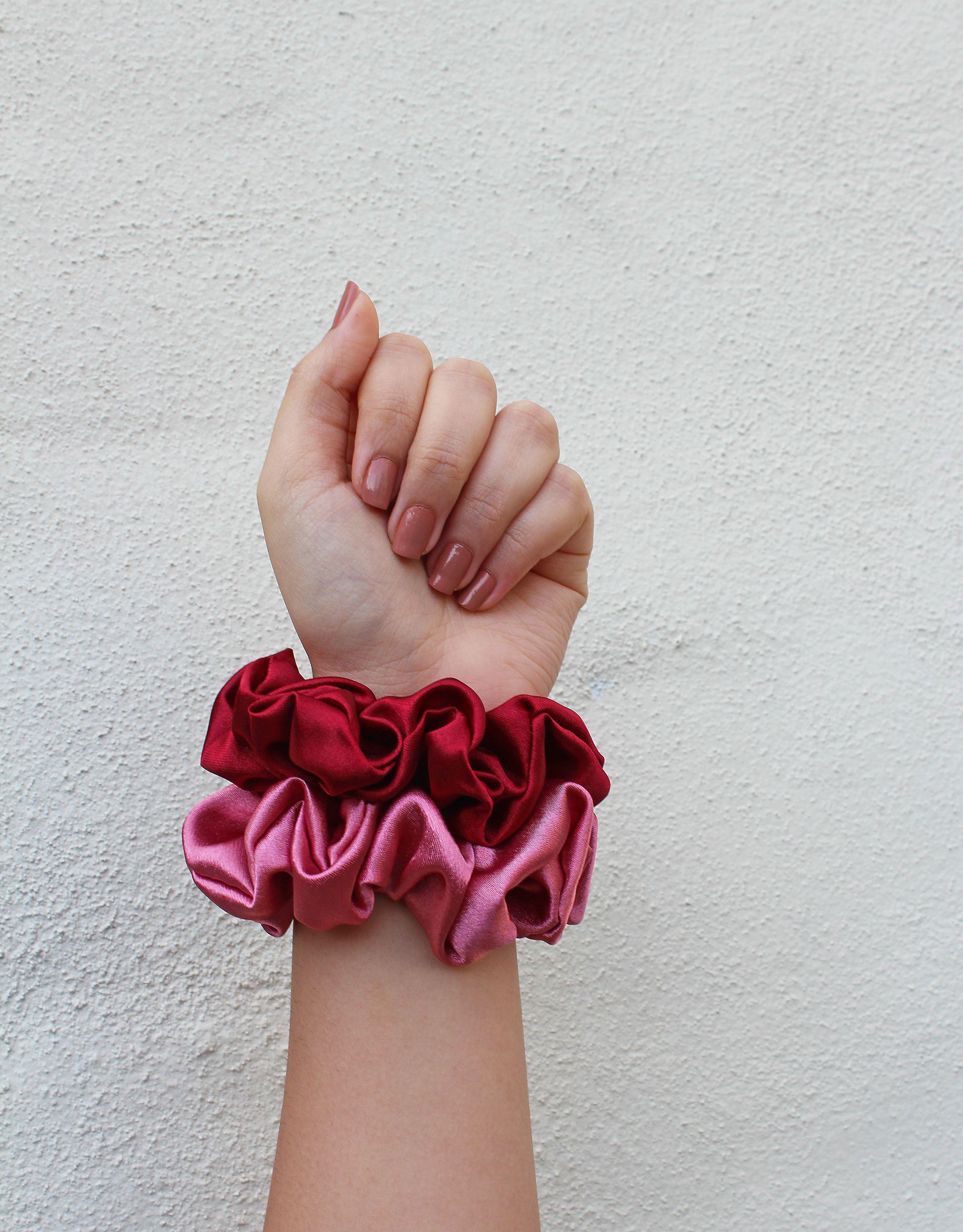 Valentine/'s Day Gift Cheap VALENTINE/'S DAY SCRUNCHIES Valentine/'s Day Scrunchies Valentine/'s Day Gift Ideas Handmade Satin Scrunchies