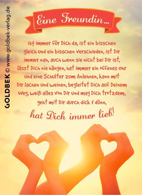 Postkarten Freundschaft Eine Freundin Postkarten Spruche