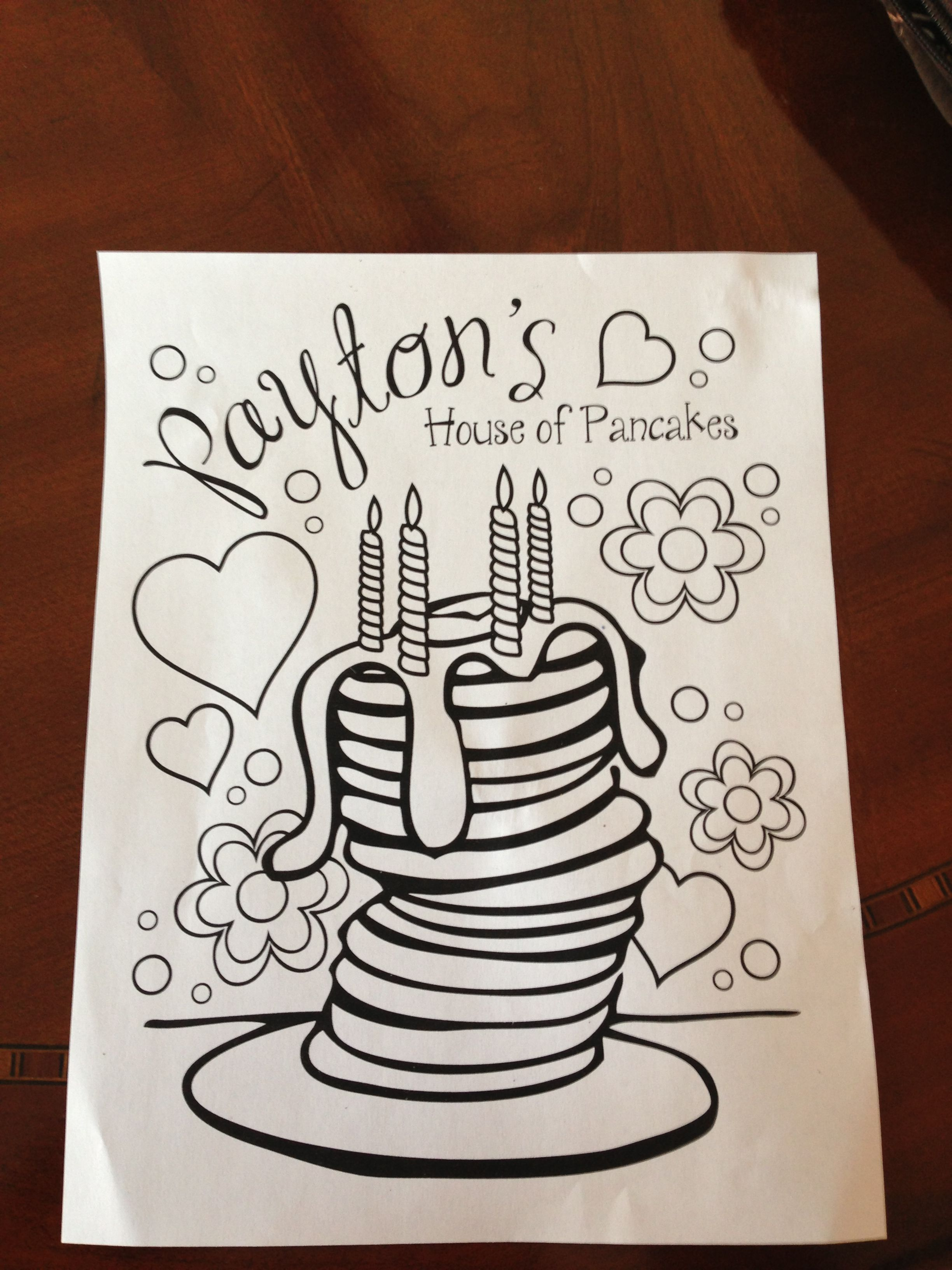 Coloring Pages For Pancake And Pajama Party