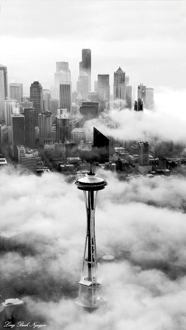 Seattle Space Needle Tower Iphone 5 Wallpaper Seattle Space Needle Places