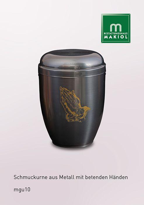 mgu10 – Metall-Urne * Mehr Auswahl finden Sie unter: www.makiol.de/sarge-und-urnen/