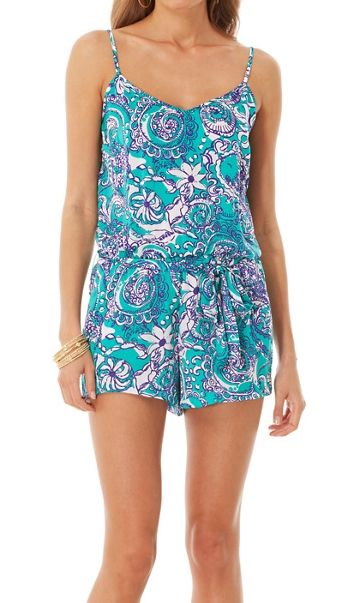 ce89507d8f8 Lilly Pulitzer Deanna Tank Top Romper in Montauk