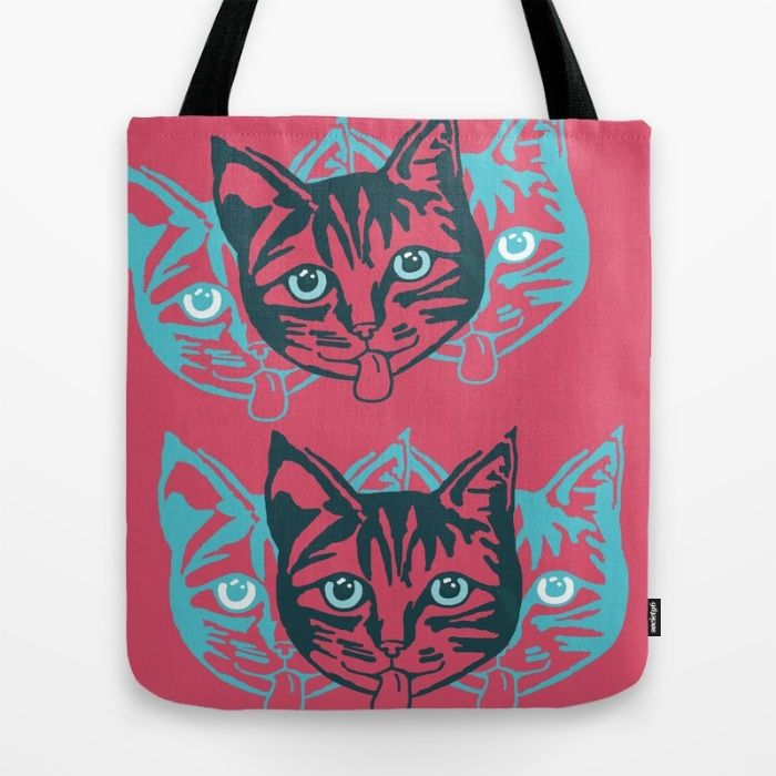 Mollycat Closeup Tote Bag. mollycat cat cats totebag