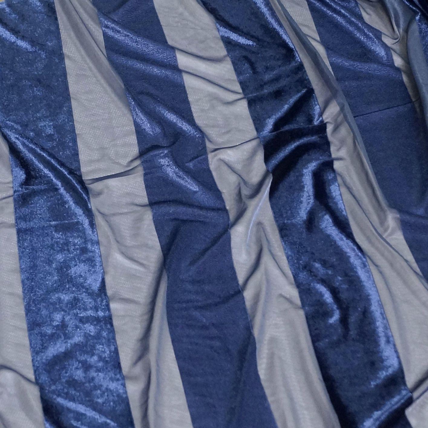 Velvet Stripe Runner - Navy
