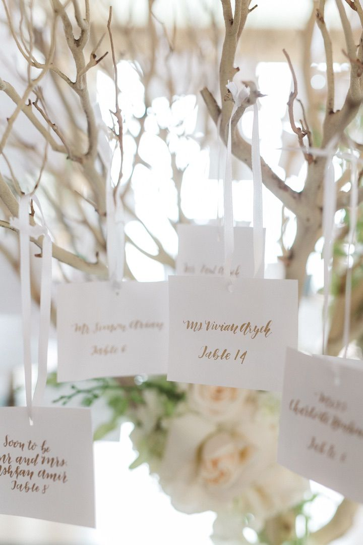 Photographer:Anna Delores Photography; wedding escort card idea; This article was produced in collaboration withBe Inspired PR.