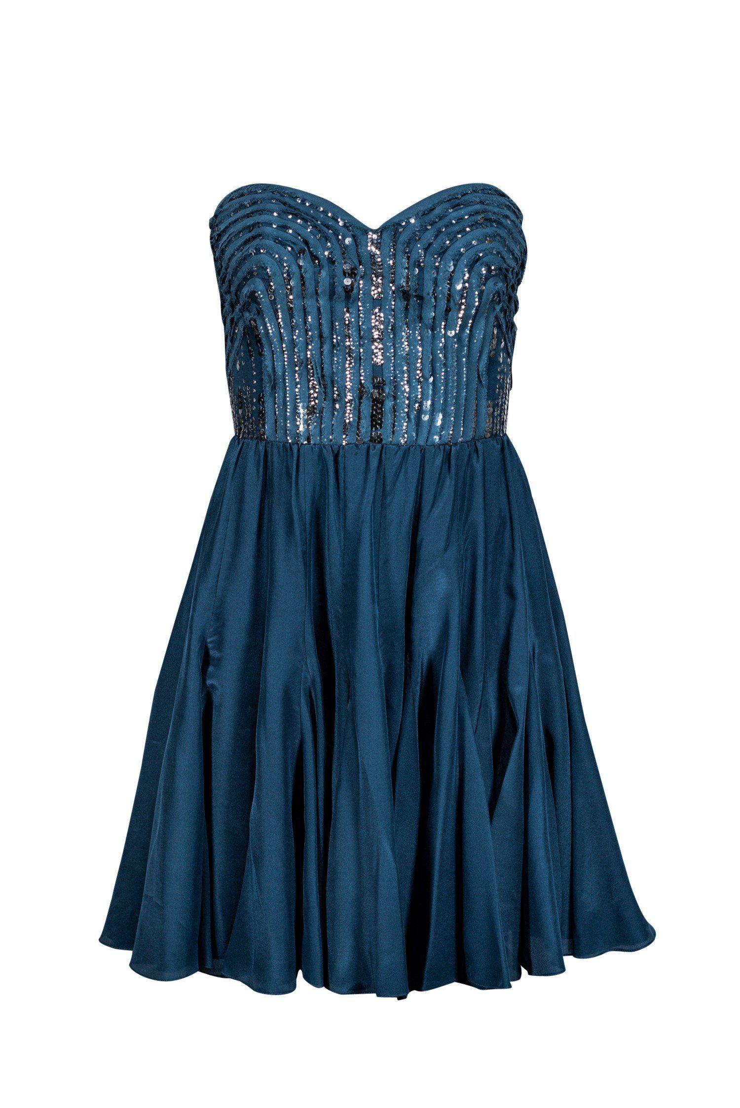 Rebecca Taylor Dark Teal Cocktail W Sequins Sz 6 In 2021 Dark Teal Dress Dresses Strapless Cocktail Dresses [ 2247 x 1500 Pixel ]