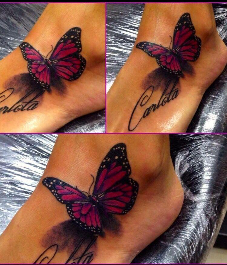 Bildergebnis Fur Fuss Tattoo Lilie Tattoo Tattoos 3d Butterfly