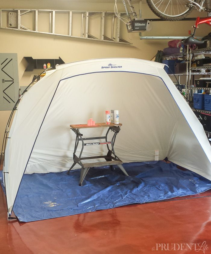 Read my tips for mess-free spray paining and then enter to win a HomeRight Spray Shelter through 8/15/15.