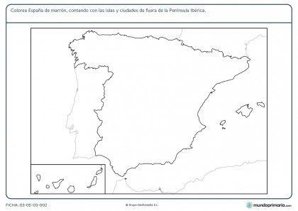 Fichas Para Imprimir Para Niños De Primaria Fichas Mapa De España Ciencias Sociales