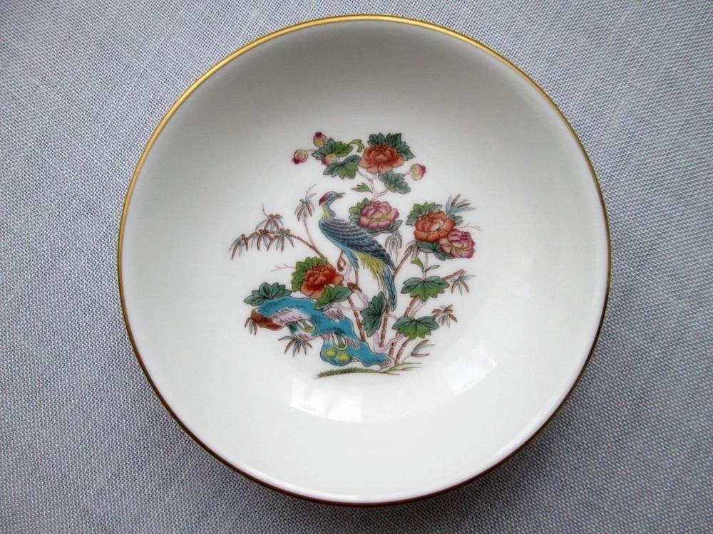 Wedgwood Bone China - Pin Dish - Tray - 4  / 10cm - Kutani Crane - Vintage