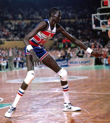The tallest player in NBA history is Sudanese-born Manute Bol who stood at  7ft 7in. He is a political activist 30aeed329