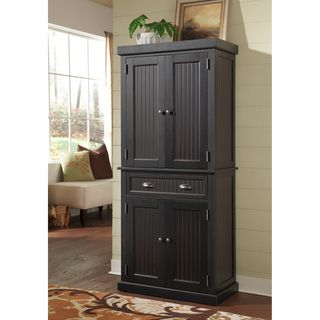 Best Nantucket Black Distressed Finish Pantry By Home Styles By 400 x 300