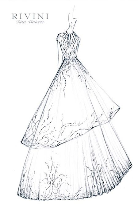 ball gown dress drawings - photo #33
