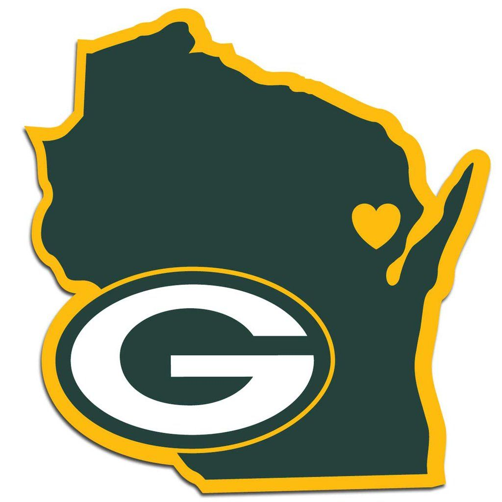 Green Bay Packers Decal Home State Pride Style Team Decal Green Bay Packers Logo Green Bay Packers