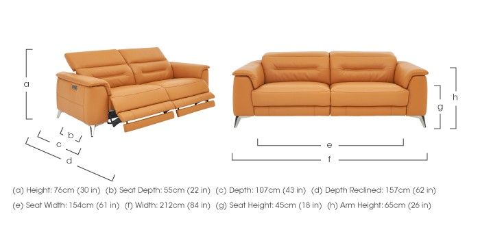 Sanza 3 Seater Recliner Leather Sofa - Furniture Village ...