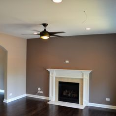 Possible Living Room Accent Wall The Main Color Is Sherwin Williams Diverse Beige And Fire Place Poised Taupe