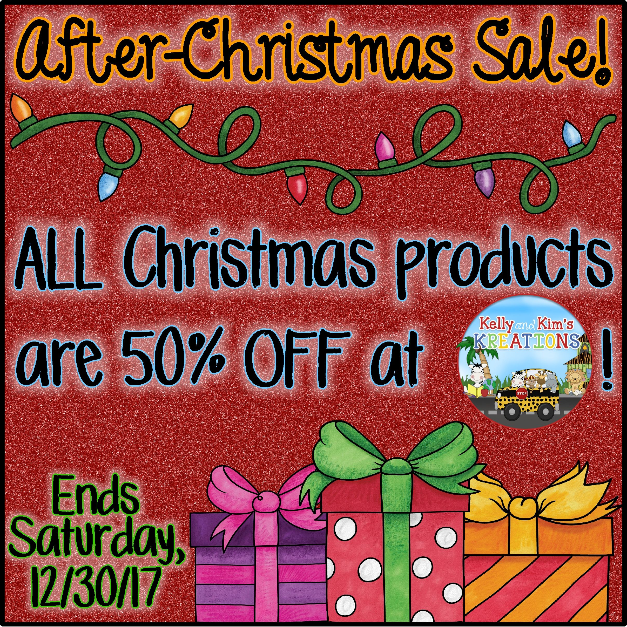 After Christmas Sale At Kelly And Kim S Kreations On Tpt