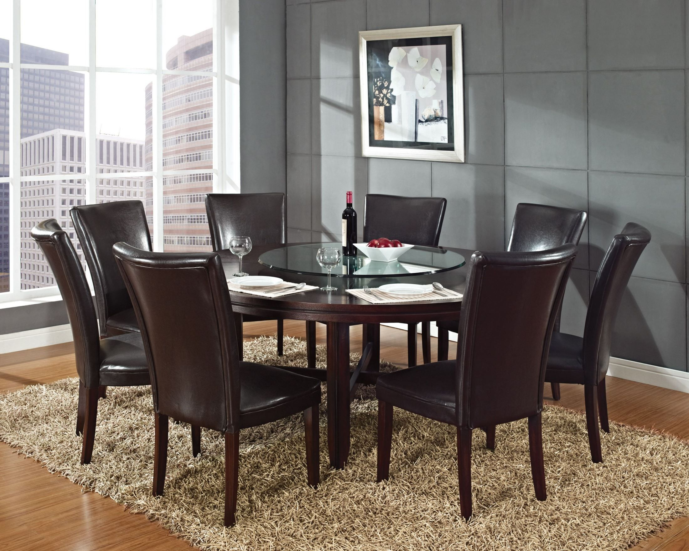 "Hartford Dark Oak 72"" Round Dining Table"