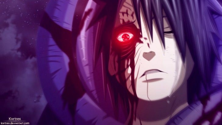 obito sharingan eyes blood