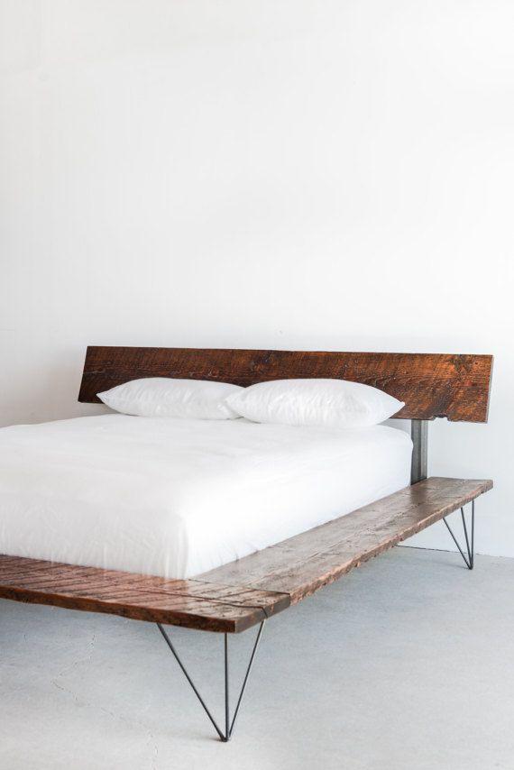 Reclaimed Wood Platform Bed Frame - handmade sustainably in Los ...
