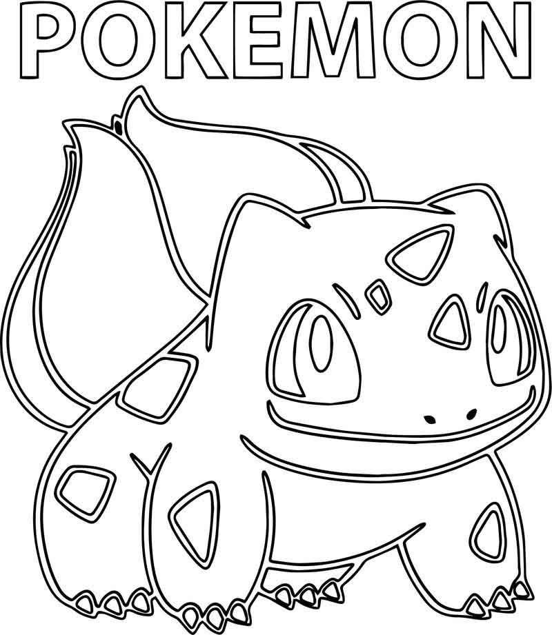 Pokemon Bulbasaur Coloring Page Pokemon Bulbasaur Pokemon Coloring Pages