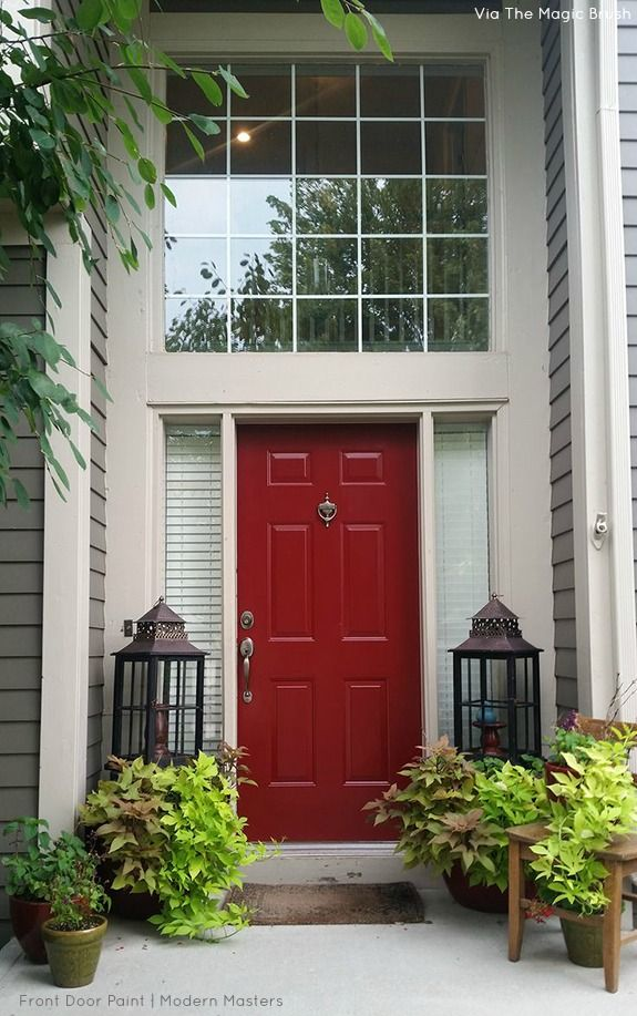 Red Front Door | Front Door Redo by Jennifer Allwood using Modern ...