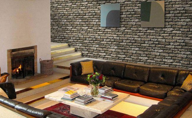 Steinwand verblender wandverkleidung steinoptik armorique olive - Steinwand imitat ...