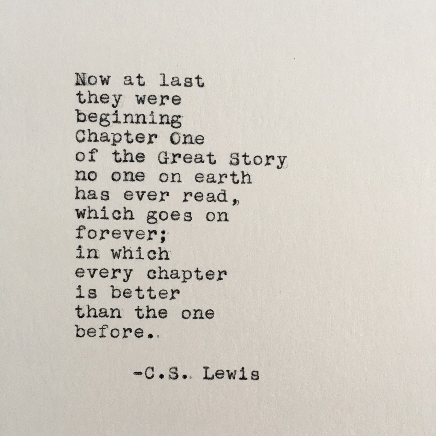 Cs Lewis Love Quotes Entrancing Cslewis Love Quote Chronicles Of Narnia Typed On Typewriter