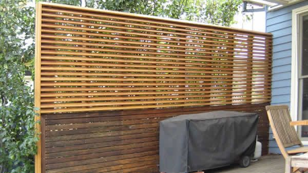 Slatted Privacy Screen For One Side Of Pergola Better