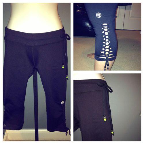 Zumba spark capri leggings customized   cute new design  0cf803719b7