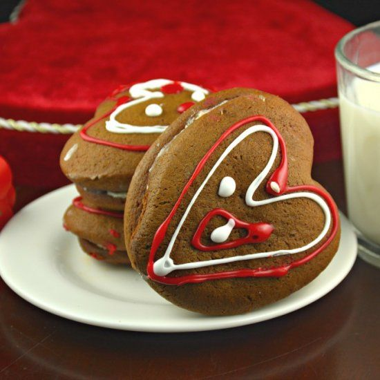 Valentines Day Heart Ginger Cookies