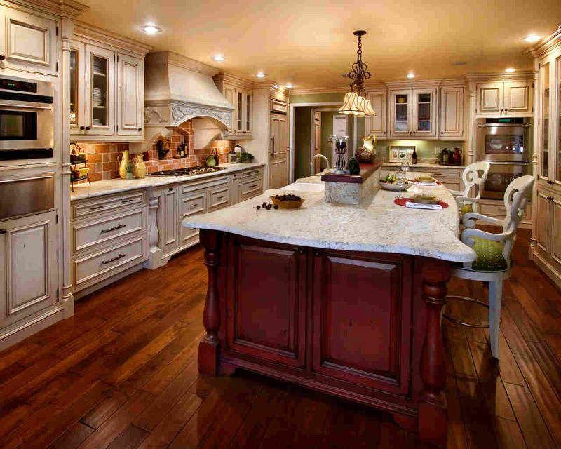 Hermosa y Fina Cocina en madera | Cocinas de muebles color madera ...