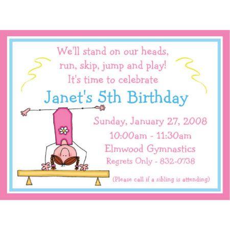 Love This Custom Gymnastics Birthday Invitation Gymnastic Party - Birthday invitation templates gymnastics