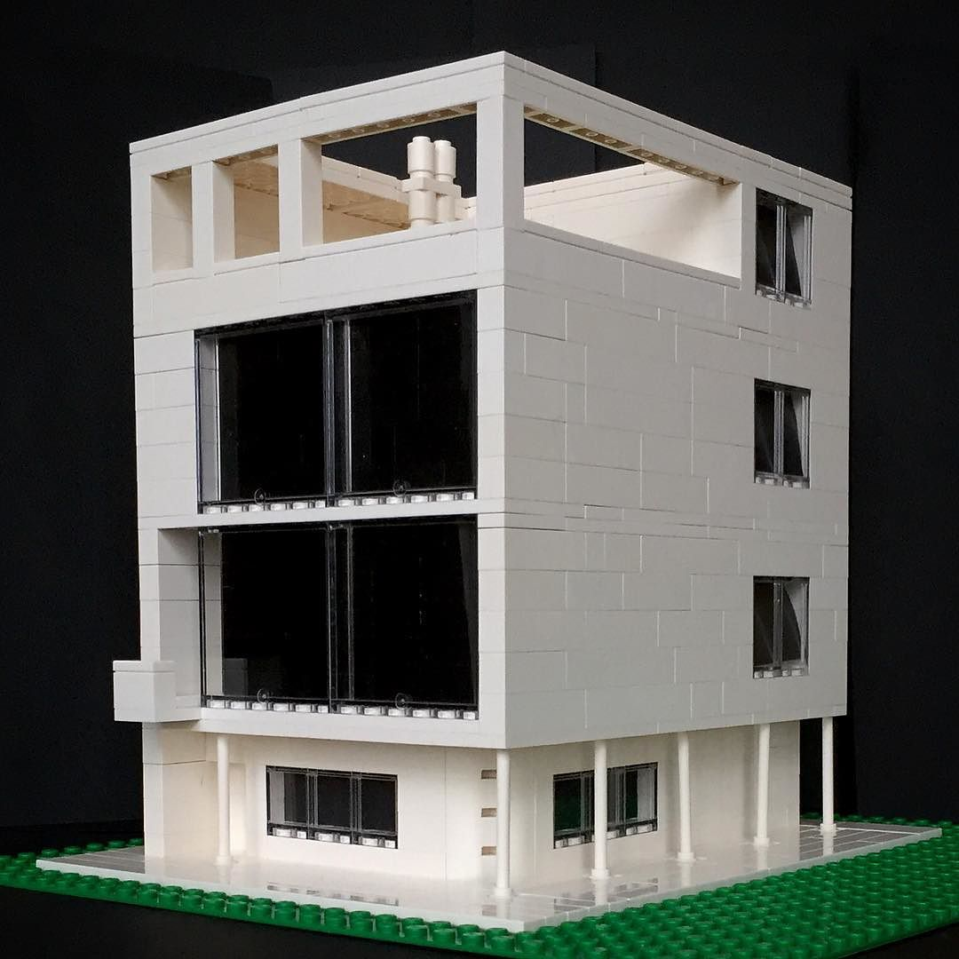 Le Corbusier Bauhaus my lego version of maison citrohan by le corbusier lego