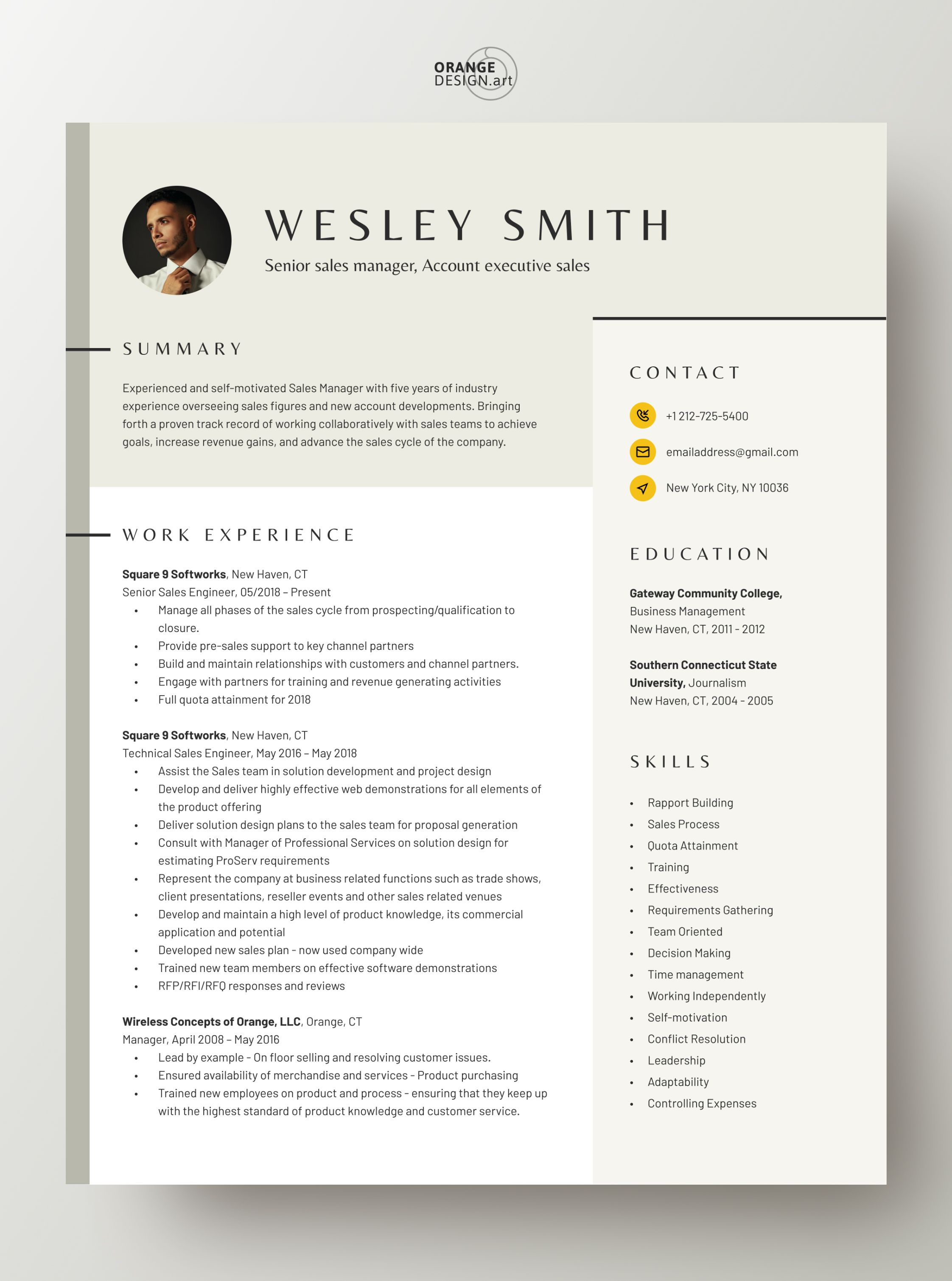 Resume Template Word 2020 Professional Cv Template With Photo Modern Cv Design 2 Page Creative Resume Template Curriculum Vitae Smith In 2020 Resume Template Word Resume Template Cv Template Professional